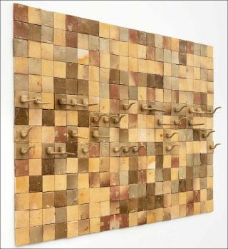 Daniel Dewar & Grégory Gicquel, Stoneware Mural with Pipes n°4, 2016.. Grès émaillé. 197 x 395 cm