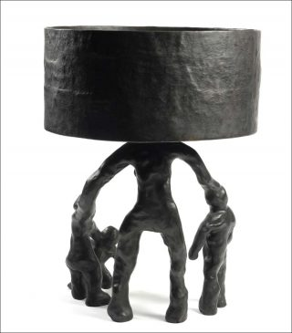 Bronze Family Lamp, lampe, Atelier Joep Van Lieshout