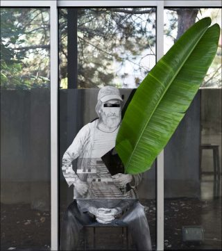 Homme assis, installation, Daniel Otero Torres