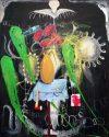 Noctural Emissions in the dark, peinture, Manuel Ocampo