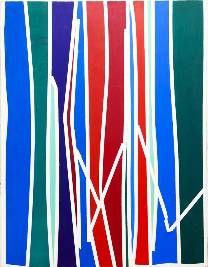 Extrêmement La peinture géométrique abstraite de Gina Pane explore le volume  HN71