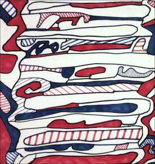 Escalier (M 425), dessin, Jean Dubuffet