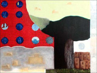 Chai Stop: Sand Castles, peinture, Karishma D'Souza
