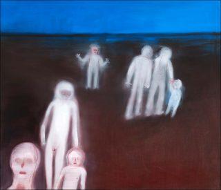 herumlaufen, peinture, Miriam Cahn