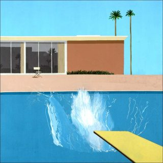 A Bigger Splash, peinture, David Hockney