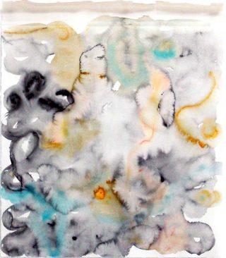 Sans titre, aquarelle, Ulrich Wellmann