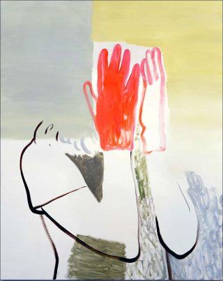 Sonatines en rouge et rose, peinture, Françoise Pétrovitch