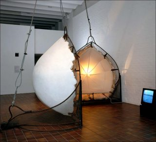 Adjustable Wall Bra, installation, Vito Acconci