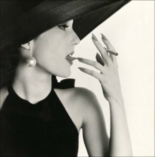 Girl with Tobacco on Tongue (Mary Jane Russell), photo, Irving Penn