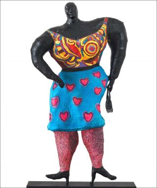 Black Rosy ou My heart belongs to Rosy, sculpture, Niki de Saint Phalle