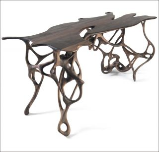 Walnut Growth, table, Mathias Bengtsson