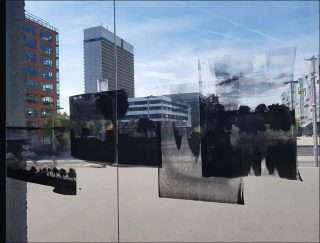 Space slot, installation, Edouard Prulhière