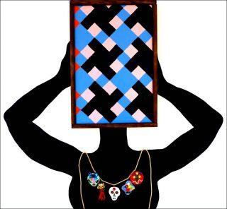 La Tête dans la couleur, peinture, Karina Bisch