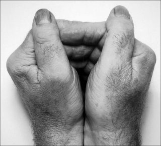 Two Hands Together, photo, John Coplans
