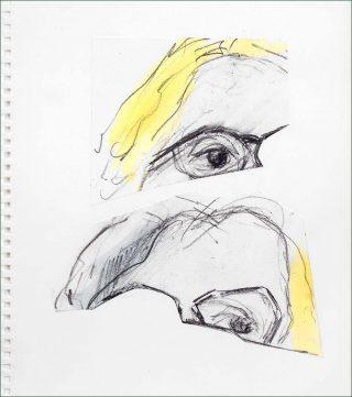 Dominique, dessin, Pierre Buraglio