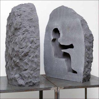 Pierre, sculpture, Abraham Poincheval