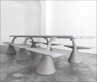 design le magliana project de konstantin grcic un b ton sensible paris art. Black Bedroom Furniture Sets. Home Design Ideas