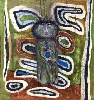 La Jeune Mouche D. s'envole, peinture, Simon Hantaï