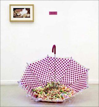 No more pink ?, installation, Ben Patterson