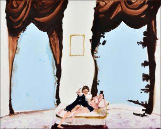 Velvet curtains, peinture, Genieve Figgis