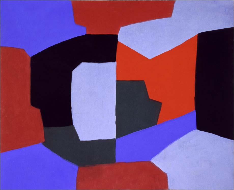 Composition, peinture, Serge Poliakoff