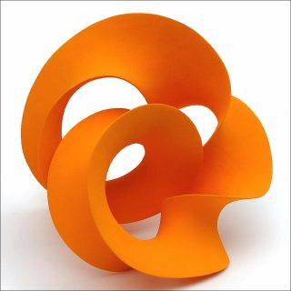 Merete Rasmussen, Orange Twisted Loop, 2016