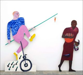 The Carrot Piece, peinture, Lubaina Himid