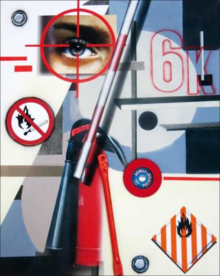 Hommage à Malevitch / Cible, peinture, Peter Klasen