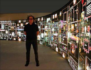Devant le Luciogramme, installation, Yann Toma