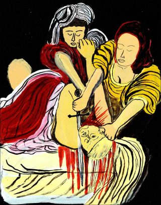 « Judith Beheads Holofernes », dessin, Arrington de Dionyso