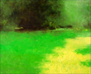 A l'Orée, peinture, Jacques Le Brusq