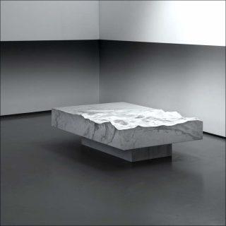 Mathieu Lehanneur, Table basse rectangulaire Ocean Memories (Blanche), 2017