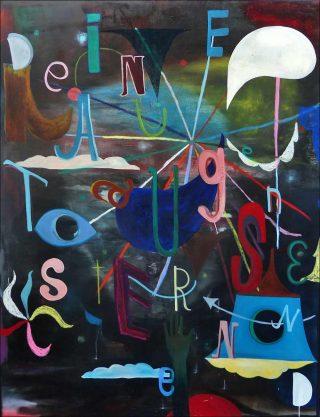 Deine Augen (your eyes), peinture, Monika Michalko