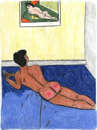 Bed work SA17D46, dessin, Soufiane Ababri
