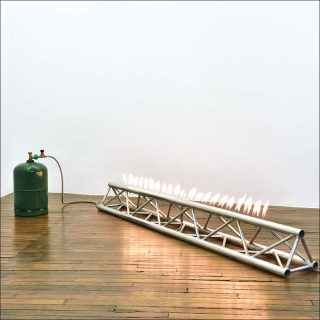 The roof is on fire, installation, Andreas Fogarasi