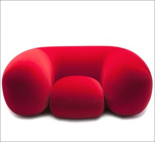 Philippe Malouin, fauteuil Mollo armchair red, 2014