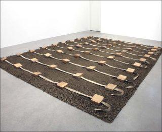 Terre protégée II, installation, Gina Pane
