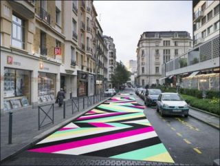Ev nement street painting 07 de lang baumann 40mcube for Architecture utopique 60