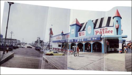 Albert Moser, Ocean Terrace & Grant Avenue, Seaside Heights (détail), 1993. Panorama photographique. 14 x 45 cm. Courtesy galerie Christian Berst.