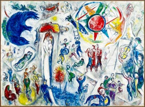 Une oeuvre invit e la vie de marc chagall nice paris for Chagall tableau