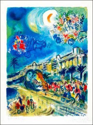 nice soleil fleurs marc chagall et la baie des anges nice paris art paris art. Black Bedroom Furniture Sets. Home Design Ideas