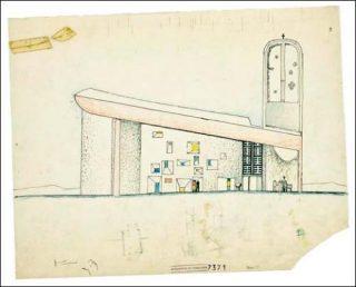 église avec un vitrail de chagall
