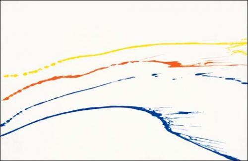 Jean Dupuy,<em> N°66,</em> 1965. Acrylique sur toile. 114 x 195 cm<br><br>Courtesy de l'artiste et de la galerie Loevenbruck, Paris © Jean Dupuy