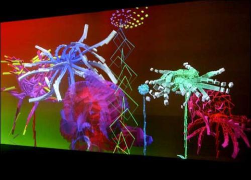 Miguel chevalier power pixels lyon 2e galerie georges verney carron - Mur incontri silence altek italia design ...