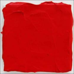 Bernard Aubertin, Rouge Carmen, 2009. Acrylique sur toile. 15 x 15 cm