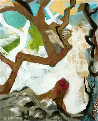 Isabelle Labat, Bord de mer, 2011. Huile sur toile. 1600 x 1200 cm