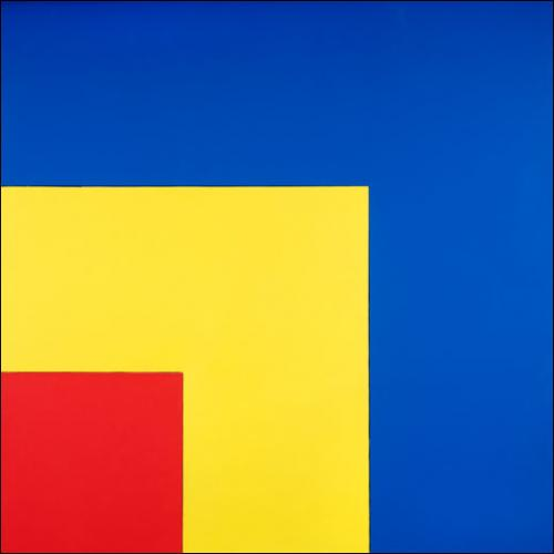Ellsworth Kelly, Red, Yellow, Blue I, 1963. Huile sur toile. 231 x 231 cm