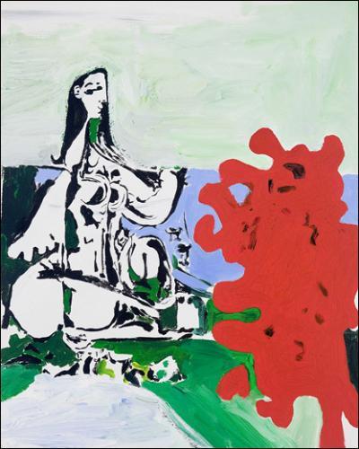 Alun Williams, Jules & Victorine. Picnic, 2010. Huile et acrylique sur toile. 51 x 40,5 cm