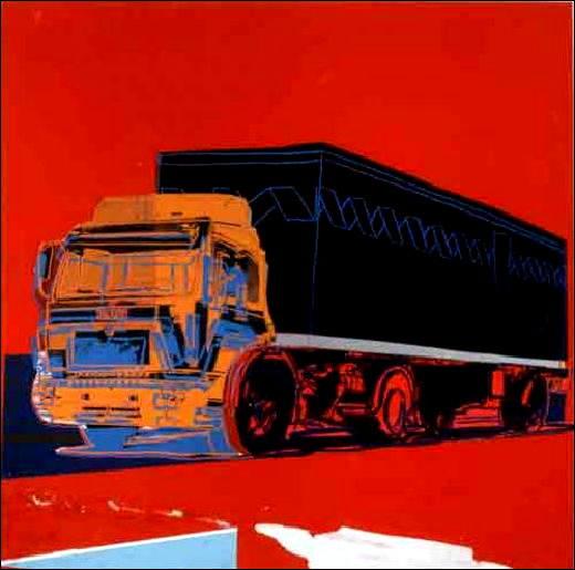 Andy Warhol, Truck, 1985. Sérigraphie et papiers teintés collés sur carton. 103,5 x 101,6 cm.