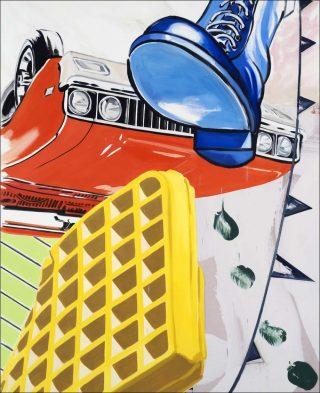 Big Boot, peinture, David Salle